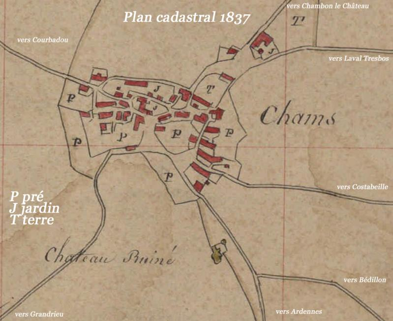 Chams plan cadastral 1837