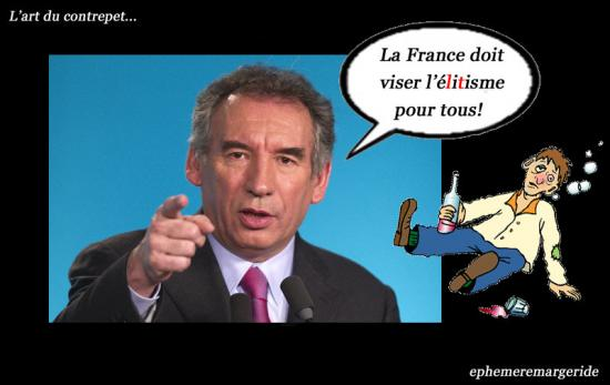 contrepèterie - Bayrou - humour - ephemeremargeride