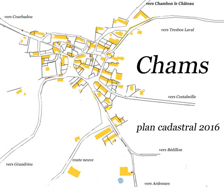Chams - plan cadastral - 2016