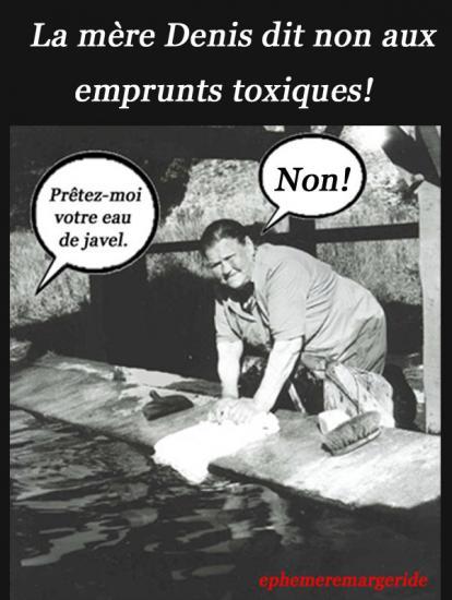 Emprunts toxiques - mère Denis - Humour - ephemeremmargeride