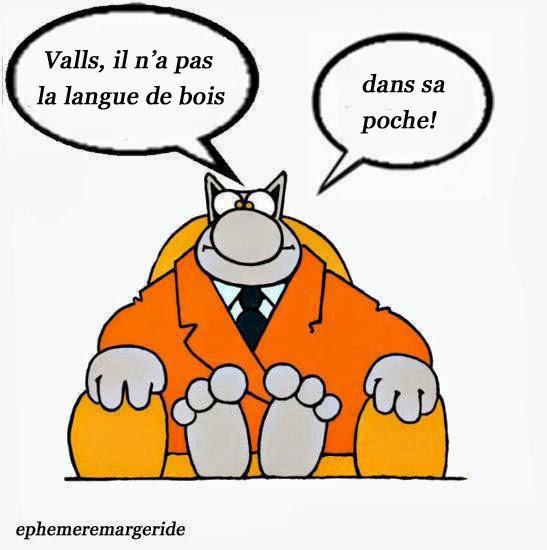 Valls - langue de bois - humour - ephemeremargeride